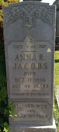 Anna <i>Housman</i> Jacobs