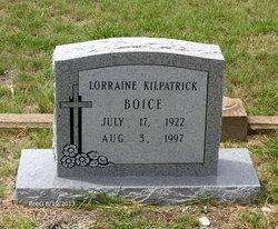 Edith Lorraine <i>Kilpatrick</i> Boice