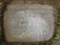 Rev William Brookman