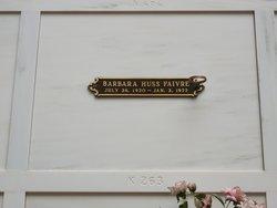 Barbara <i>Huss</i> Faivre