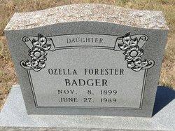 Ozella Willis <i>Forester</i> Badger