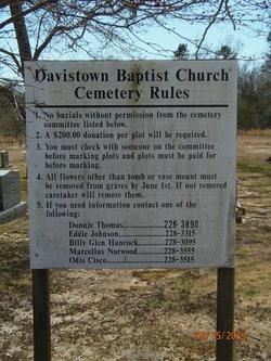 Davistown Baptist Church Cemetery