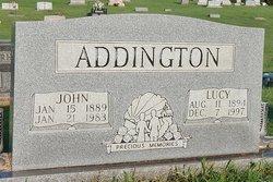 Lucy Jeff <i>Brown</i> Addington