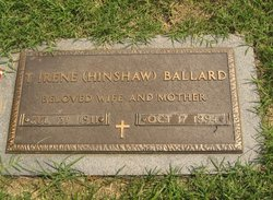 Thelma Irene <i>Hinshaw</i> Ballard