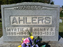 Myrtle Justine <i>Newton</i> Ahlers