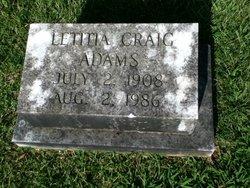 Letitia <i>Craig</i> Adams