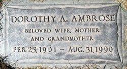 Dorothy A <i>Andersen</i> Ambrose