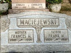 Mrs Frances M. <i>Dubel</i> Maciejewski