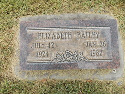Elizabeth <i>Taylor</i> Bailey