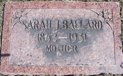 Sarah J. <i>McManus</i> Ballard