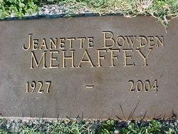 Jeanette Bowden Mehaffey