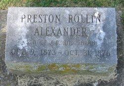 Preston Rollin Alexander