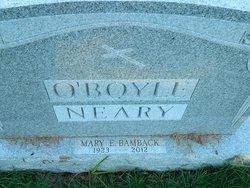 Mary E. <i>Neary</i> Bamback