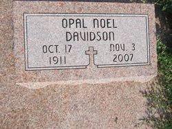 Annie Lee Opal <i>Noel</i> Davidson
