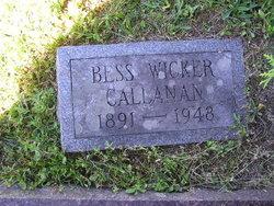 Helen Bessie Bess <i>Wicker</i> Callanan