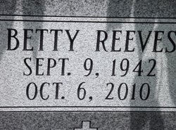Betty <i>Reeves</i> Waters