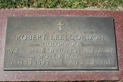 Pvt Robert Lee Gordon