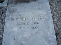 Rubye <i>Thrift</i> Coleman