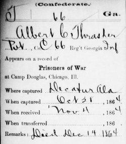 Pvt Albert Conway Thrasher
