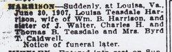 Louisa <i>Teasdale</i> Harrison