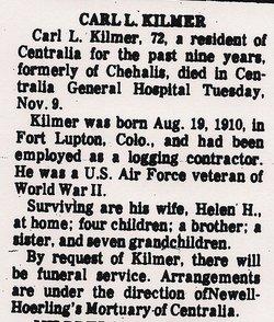 Carl Leslie Kilmer