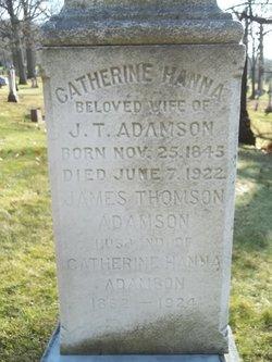 Catherine <i>Hanna</i> Adamson