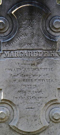 Margaret E K <i>Haynes</i> Brickhouse
