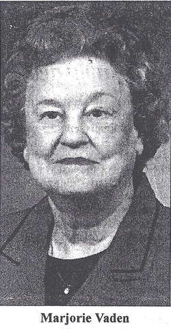 Marjorie Isabel <i>Mathis</i> Vaden
