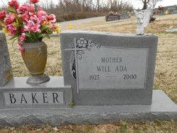 Will Ada <i>Thrasher</i> Baker