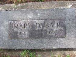 Mary Wells <i>Drew</i> Bair