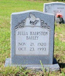 Julia <i>Hairston</i> Bailey