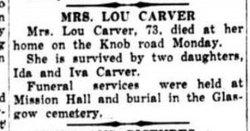 Louisa Francis Grannie <i>Britt</i> Carver