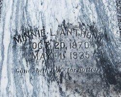 Minnie L <i>Herring</i> Anthony