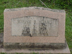 Miriam Bertha <i>Sheffield</i> Adams
