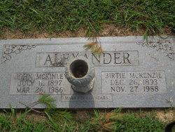 Birtie <i>McKenzie</i> Alexander