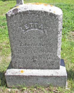 Etta J, <i>Buzzell</i> Burr