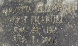 Henrietta Elizabeth <i>Hurst</i> Emanuel