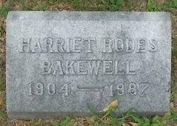 Harriet <i>Rodes</i> Bakewell