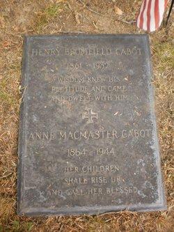 Anne McMasters <i>Codman</i> Cabot