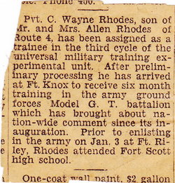 Sgt Clark Wayne Rhodes