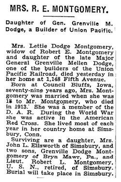 Lettie <i>Dodge</i> Montgomery