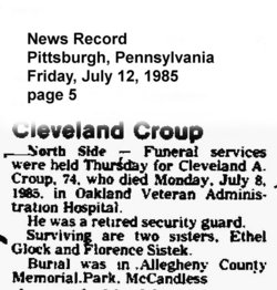 Cleveland Augustus Cleve Croup