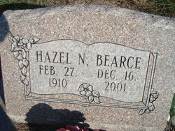 Hazel Naomi Dau of Benjamin and Maude Bearce Bearce