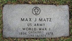 Fr Max J. Matz