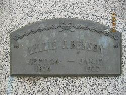 Lillie J <i>Carlson</i> Benson