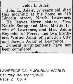 John L Adair