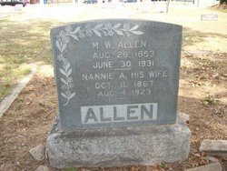 Nannie A. <i>Prather</i> Allen