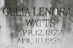 Celia Lenora Nora <i>Wooten</i> Watts