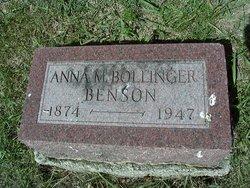 Anna M Bollinger Benson