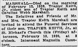Trapier Keith Marshall, Jr